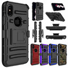For Apple iPhone XS/XS Max Case Belt Clip Holster Kickstand Defender Armor Cover