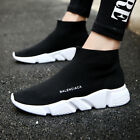 Men Athletic Walking Shoes Mesh Walk Sports Sock Sneakers Breathable Running