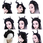 Restyle Fancy Dress & Cosplay & Halloween Horns Roses Demon Headpiece Headband