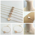 New In Rose Gold Plated Initial Heart Necklace And Bracelet - Choose Of Designed