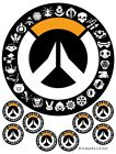 Overwatch Cake Toppers, Cupcakes, up to A3 Logo, Xbox , PS4, PC, Gaming Party