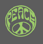 Hippie PEACE SIGN LOGO STICKER DECAL LOVE HIPPIE SYMBOL CAR Bumper WINDOW