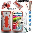 Tempered Glass Screen Protector + silicone bumper Case for ARCHOS SmartPhones