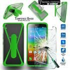 For Lenovo Mobile Tempered Glass Screen Protector + silicone bumper Stand Case