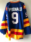 NWT Lanny McDonald #9 Calgary Flames Mens Hockey Jersey Mens Blue $59.99 USD on eBay