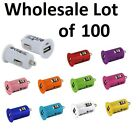 Wholesale Lot of 100 Universal USB Port Car Charger Adapters for iPhone /Android