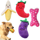 Outdoor Pet dog Toy Squeaky Fruit Banana Toys Puppy Chew Sound Plush Toys HOT