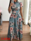 UK Women Long Floral Casual Dress Ladies Short Sleeve Cocktail Party Maxi Dress <br/> ❤Ladies BOHO Long Maxi Sundress❤6 Styles❤Lower Price❤