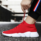 Mens Walking Sneakers Knit Breathable Lightweight Footwear Sports Gym Shoes