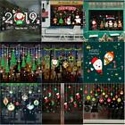 Christmas Vinyl Window Wall Stickers Decal Snowman Removable Home Room Decor Uk