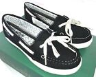 Eastland 'Skip' Women's Black Canvas Boat Shoe  3484-01M  NEW  Size 5.5M