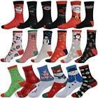 Mens Christmas Novelty Socks Ladies Kid Snowman Premium Quality 3 6 12 Pack Lot