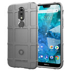 Dooqi Hybrid Rugged Shockproof Shield Soft Rubber Armor Case Cover For Nokia 7.1