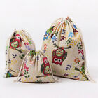 3 Canvas Drawstring Bags Multi-Use For Travel Dirty Laundry Bag Shoe Organizer