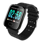 UK A6 Waterproof Smart Watch Heart Rate Monitor Bracelet Wristband for Android