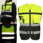 Kyпить Hi-Vis Safety Vest Reflective Driving Jacket Worker Night Security Waistcoat Set на еВаy.соm