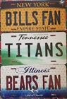 "NFL Football Team ""Fan"" State Background Metal License Plate ""Made In The USA"" $8.99 USD on eBay"