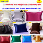 1pc 22mm 100% Mulberry Silk Pillow Case Cover Zipper Close All Size Sisters-Silk image