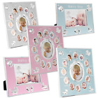 Baby Photo Picture Frame Scan Boy Girl First Year Home Nursery Deco Gifts