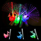 5/10Pcs Light Up LED Flashing Finger Rings Glowing Party Favors Kids Novelty Toy