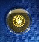 """1994-CHINA 5 YUAN GOLD """"UNICORN"""" 1/20th oz mnt. 31,100 pc proof in airtite scace"""