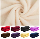 Comfortable Soft Blanket Winter Warm Solid Color Throw Blankets Coral Fleece New image