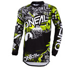 Kyпить O'Neal 2019 Element Attack Jersey Black/Hi-Viz - Motocross, Off-Road, Dirt Bike на еВаy.соm