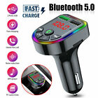 Wireless Bluetooth Auto Handsfree Car Audio Transmitter FM Adapter USB Charger
