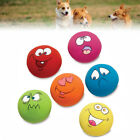 12 Packs Zanies Latex Dog Puppy Play Squeaky Rubber Ball With Face Fetch Toy