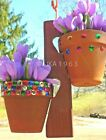 Внешний вид - Hanging plant holders wooden decor hand made crafted clay pot pots
