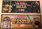 "New LEGO STAR WARS 2-Sided Bookmark 2.5""x7"" Yoda Darth Vader R2D2 Luke Skywalker $11.5 USD on eBay"