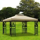 12x10 Ft. Top Brown Gazebo Top Replacement for 12x10 Sunjoy L-GZ288PST-4D