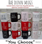 RAE DUNN 'YOU CHOOSE' MUGS Colored Inside, Sets, Halloween, Canada,Name Mug '19