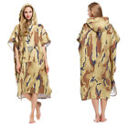 EDTara Drying Camouflage Bath Robe Wetsuit Changing Towel Poncho with Hood