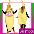 Ladies Ms Banana Costume Fruit Funny Novelty Fancy Dress Yellow Stag Hens Bucks