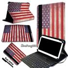For Various Tablets Universal Folio Leather Stand Cover Case With Keyboard