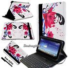 Leather Stand Cover Case With Keyboard For Various Asus MEMO Pad 7 8 10 Tablet
