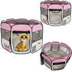 Pet Dog Cat Tent Playpen Exercise Play Pen Soft Crate Fence Folding Travel Cage