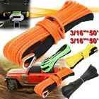Внешний вид - 50Ft /15m Synthetic Winch Rope Line Cable 4500 5500 7000 lbs ATV UTV w/ Sheath