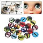 20PCs Handmade 8/12/18mm Glass Doll Eyes Animal DIY Craft Eyeballs Dinosaur Eyes