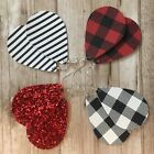 Teardrop Earrings Buffalo Plaid Glitter Leather Stripes Textured Boho lot