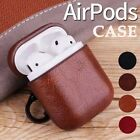 Full Protective Shell Leather Charging Earphone Case Cover for Apple Airpods