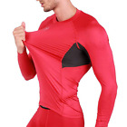 ARMEDES Mens Skin Compression Baselayer Activewear Mesh Long Sleeve Shirt R142