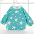 Cartoon Baby Bibs Apron Waterproof Toddler Kids Long Sleeves Feeding Burp Cloths