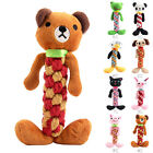 Pet Dog Tough Strong Chew Bowknot Teddy Toy Puppy Healthy Teeth Bear Cotton Rope