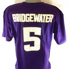 NEW Mens NFL B&T Football Majestic Minnesota Vikings Bridgewater #5 Tee T-Shirt