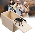 Wooden Prank Spider Scare Box Hidden In Case Trick Play Joke Gag Toys Gifts