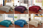 Leaf Print Etched Jacquard Blanket Queen & King 6 Different Colors Warm & Soft  image