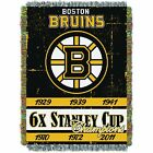 """Bruins OFFICIAL National Hockey League, Commemorative 48""""x 60"""" Woven Tapestry Th $37.99 USD on eBay"""