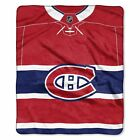 """Canadiens OFFICIAL National Hockey League, """"Jersey"""" 50""""x 60"""" Raschel Throw  by T $37.99 USD on eBay"""